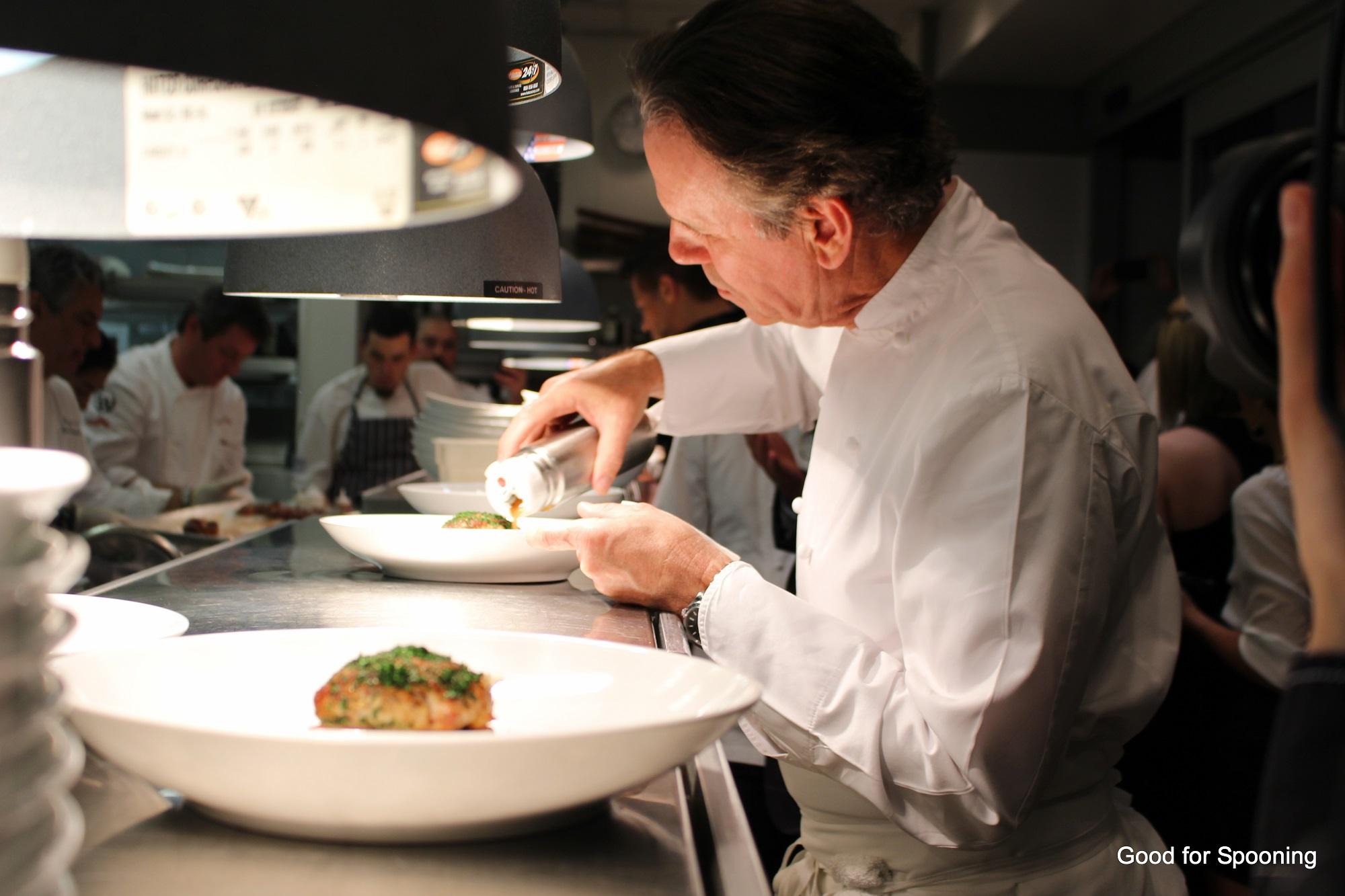 Chef Thomas Keller working his magic.