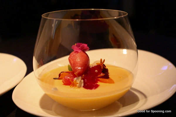Passionfruit Panna Cotta with Blood Orange Supremes