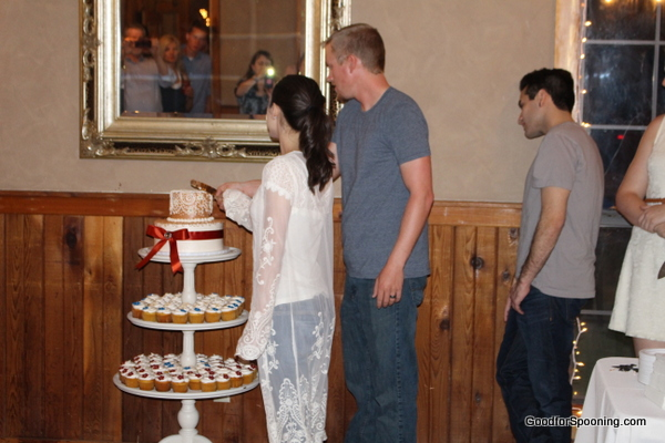 Brian and Krstal changed into something more comfy for the cake, dancing and singing portion of the evening.