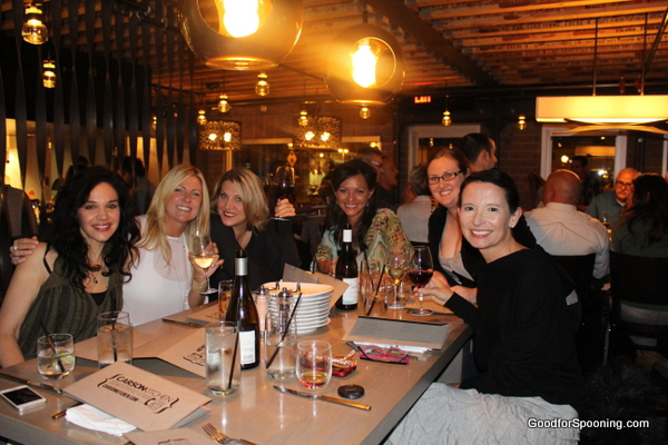 The amazing team I worked with, dining at Carson Kitchen