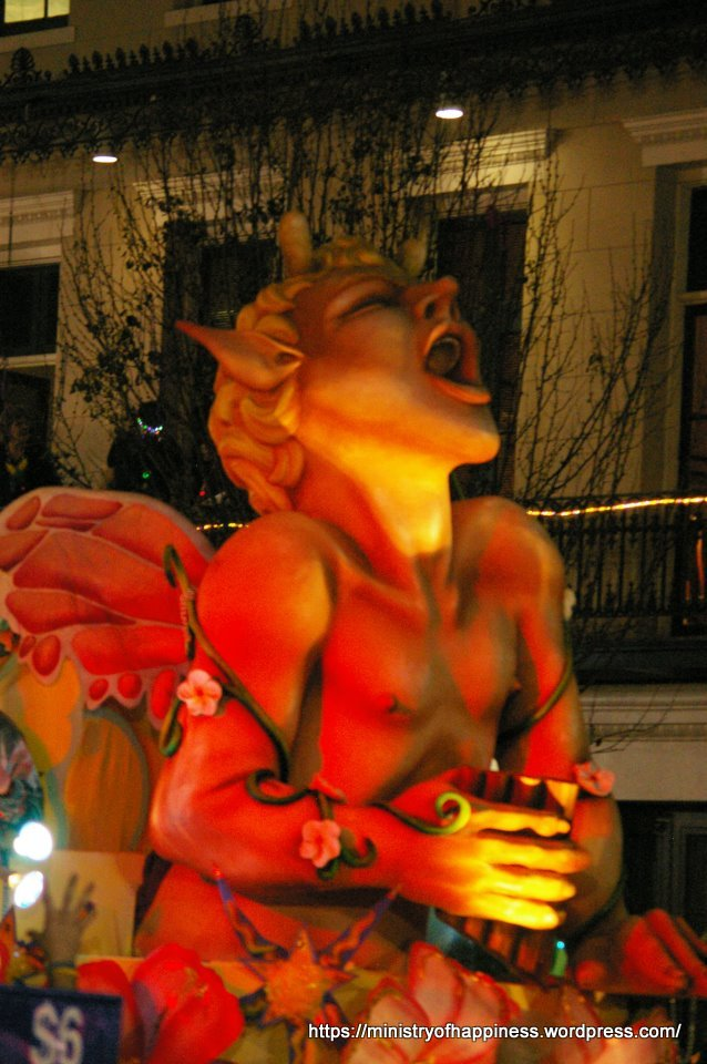 Bacchus? Pan? Generic Satyr? Part of one of the Mardi Gras Floats
