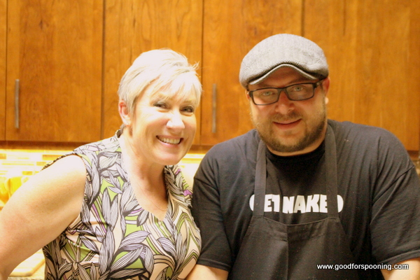 With Chef Palmeri in the kitchen. I couldn't stay out...