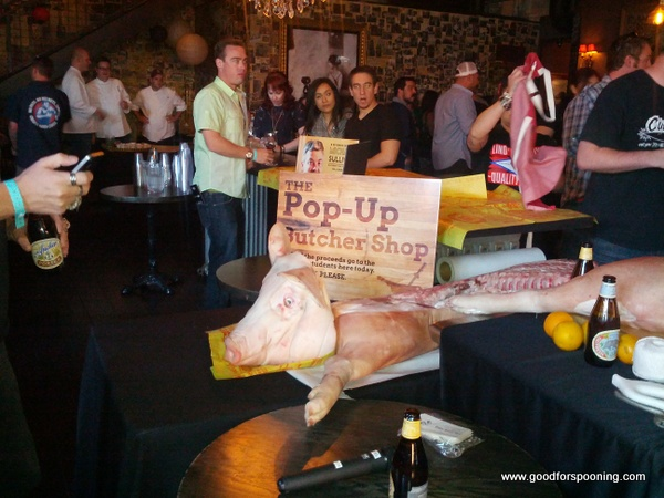 Pop up Butcher Shop at Cochon 555 here in Vegas.