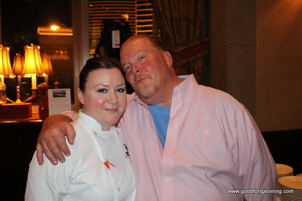 with Mario Batali at Carnevino