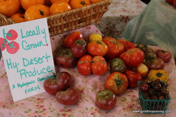 Locally grown heirloom tomatoes