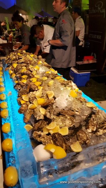 Echo & Rig's oyster display. The grilled Oysters were one of the best bites of the night!