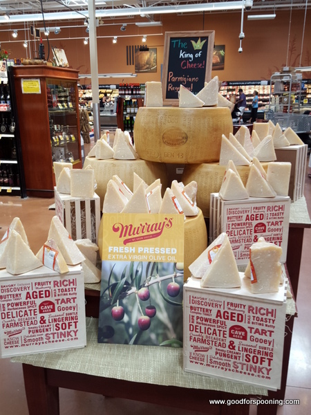 Display featuring Olive Oil and Parmigiano Reggiano