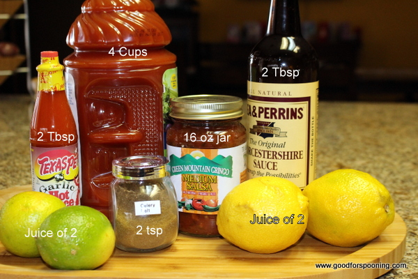 Basic ingredients for the Mary Mix