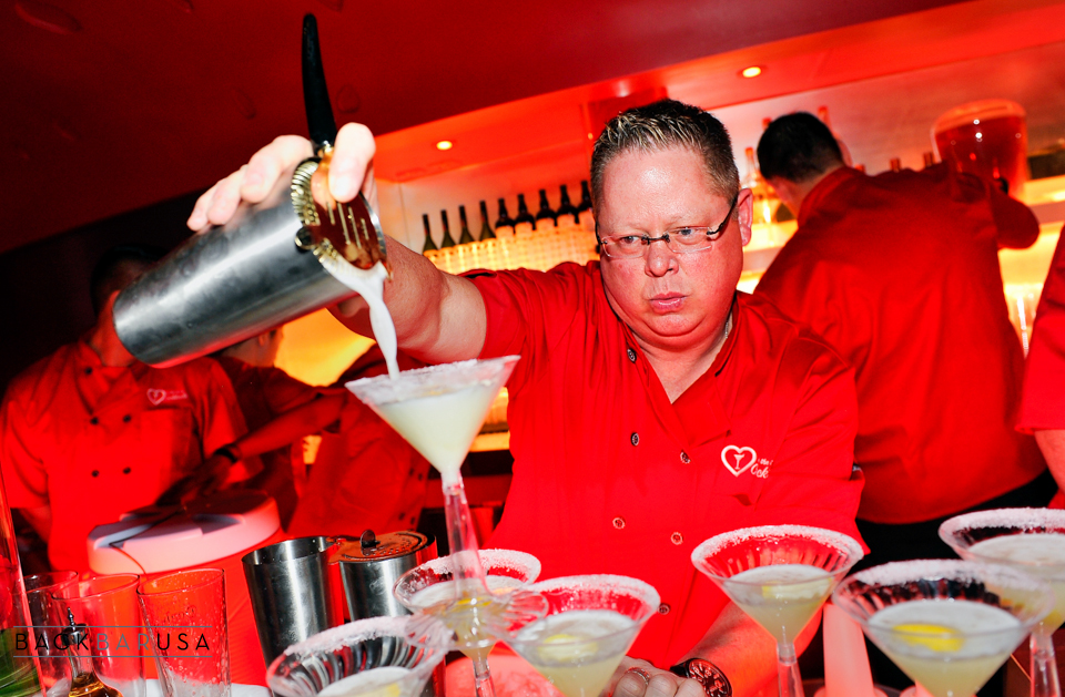 A mixologist appears at For The Love Of Cocktails' Grand Gala at the Delano Las Vegas at the Mandalay Bay Resort and Casino on Friday, February 13, 2015, in Las Vegas. (Photo by David Becker)