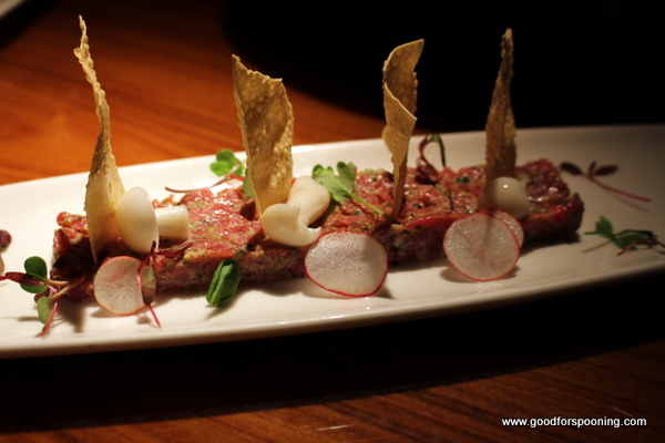 My fave appetizer right now, steak tartare as done by STK