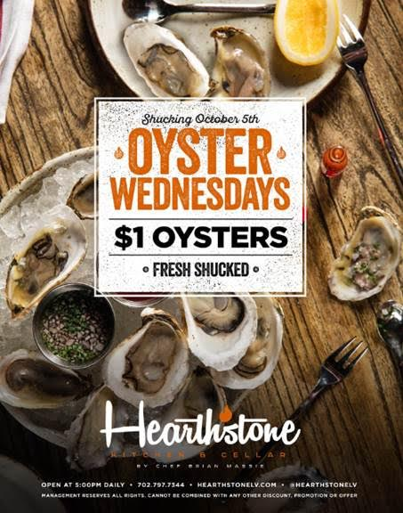 Oyster Wednesday starts Oct 5th