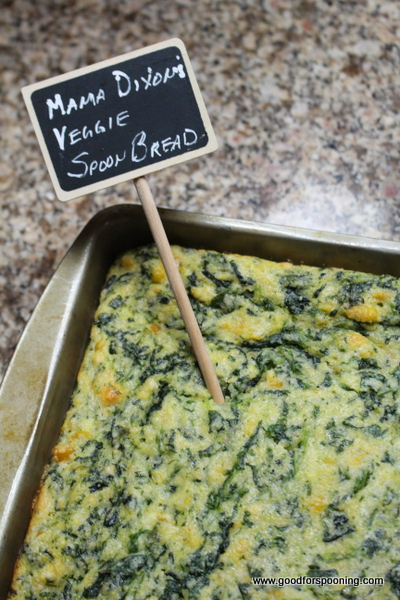 Mama Dixon's Veggie Spoon Bread. Just the way Darryl likes it. Thanks Friend Lillian for sharing.