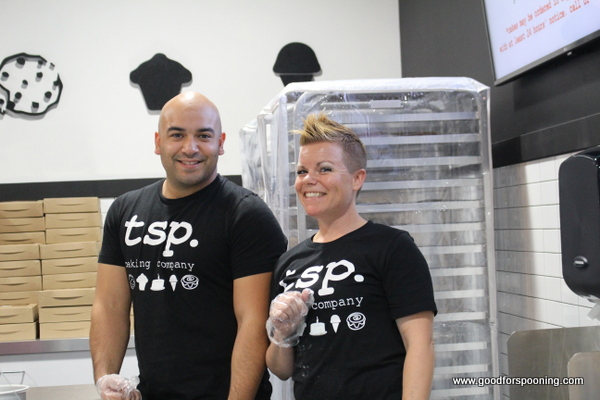 Kari and Richard Garcia opened tsp Baking Company on Friday 11 November.