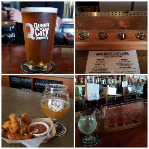 Just some of the fantastic offerings in Burlington's brewery scene.