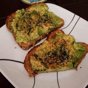 Avocado Toast with Furikake and Tajin