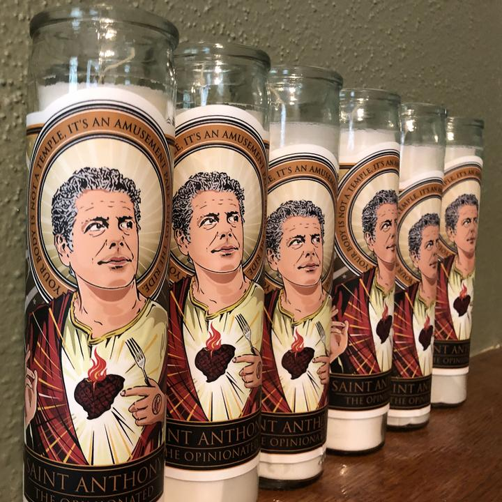 St. Anthony Bourdain Candle - the perfect gift for that someone who has EVERYTHING!