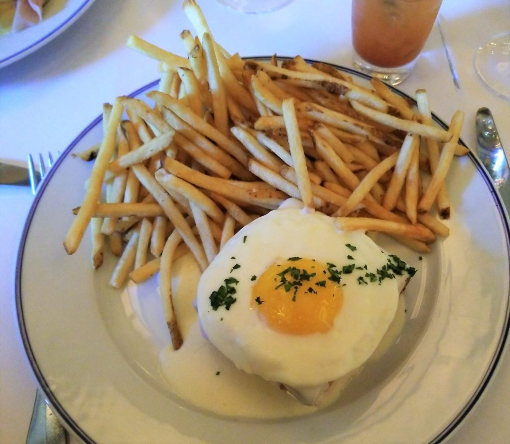 Croque Madame at Bouchon, Las Vegas